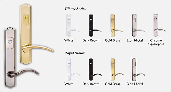 Wonderful Dallas French Door Handle Set Color Options