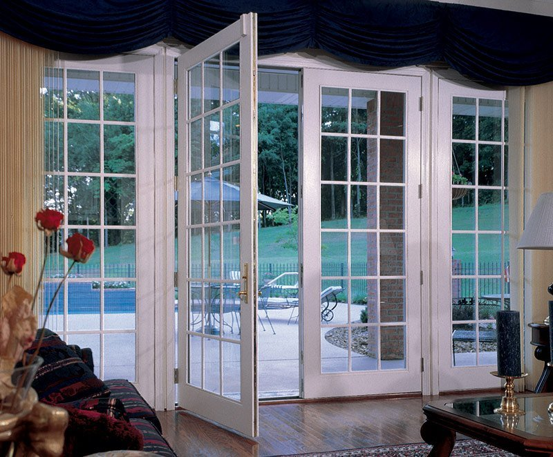 Exterior Composite French And Patio Doors In Houston